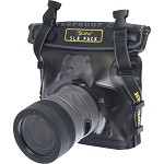 DiCAPac WP-S10 Underwater Case for Camera - Clear, Dark Brown - Water Proof - Polyvinyl Chloride (PVC), Polycarbonate