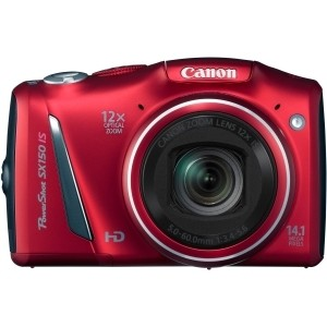 "Canon PowerShot SX150 IS 14.1 Megapixel Compact Camera - Red - 3"" LCD - 12x Optical Zoom - Optical (IS) - 4320 x 3240 Image - 1280 x 720 Video - PictBridge - HD Movie Mode"