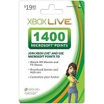 Microsoft Xbox Live 1400 Points Card - 1400 Points